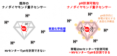 ナノダイヤモンド量子センサーを用いたpH計測法